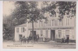 BARBEZIEUX : HOTEL DE LA BOULE D'OR - ATTELAGE CHEVAL ET DILIGENCE - 2 SCANS - - Autres Communes