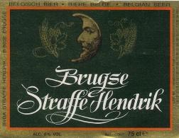 Etiquette Bière Belge. . Bière Brugse Straffe Hendrik - Cerveza