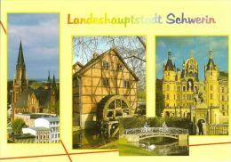 1 AK Deutschland Germany * Ansichten von Schwerin u.a. die Paulskirche, die Schleifm�hle und das Schloss *