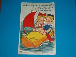 33) Claouey - CARTE SYSTEME N° 23 - Vogue; Vogue La Barque ; Dans Le Sabot Vous Verrez Claouey   - Année   - EDIT- Gaby - France