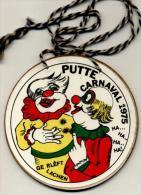 Putte - Carnaval 1975 - Ge Bleft Lachen - Plaquette In Geperst Karton - Carnaval