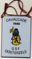 Oosterzele - Cavalcade 1980 - GSF Oosterzele - Plaquette In Metaal - Carnaval