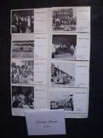 VITRY-LE-FRANCOIS (51): Série Complète 8 Cartes Postales CHRONIQUES VITRYATES + Enveloppe N°128 - Salon CPA, Stade - Souvenir De...