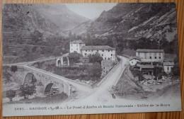 06 : Saorge - Le Pont D'Ambo Et Route Nationale - Vallée De La Roya - Animée : Petite Animation - (n°2705) - Francia