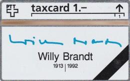 Switzerland, K-93/9B, Willy Brandt 1913-1992, Mint.   301L.