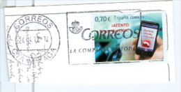 Spanien Mi. 4670 Telefonieren Handy MWST Correos 2012 Postkartenausschnitt - 1931-Heute: 2. Rep. - ... Juan Carlos I
