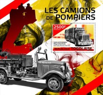 tg14415b Togo 2014 Fire trucks s/s