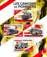 tg14415a Togo 2014 Fire trucks s/s