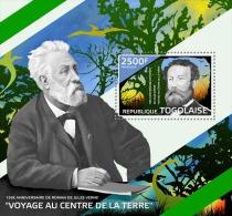 tg14420b Togo 2014 Jules Verne novel s/s Dinosaur