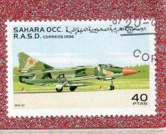 SAHARA  OCC. R.A.S.D.  --   AVION  DE  CHASSE  ....LE  MIG  23   --  **  40  PTAS  **  --  POSTE  1996  --  BEG - Airplanes