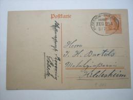 1918 , HILDESHEIM - BRAUNSCHWEIG   , Bahnpost Stempel Auf Karte - Brieven En Documenten