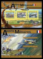GUINEA 2011 - French Military Aircrafts In WW2 M/S + S/S. Official Issue - WW2