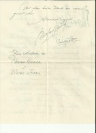 Teatro, Carta Manuscrita De La Compañía De Comedia Jofre Gener De Barcelona, Se Incluye Carta Manuscria Con Autógrafos D - Autographes