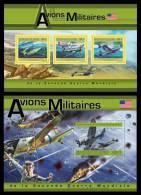 GUINEA 2011 - American Military Aircrafts In WW2 - YT 6160-2 + BF1334, Mi 9051-3 + B2053; CV = 34 € - 2. Weltkrieg