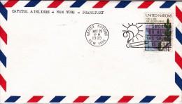 USA (EA) First Flight, CAPITOL Von New York Nach Frankfurt  Am 25.05.1980 Mit 1 Briefmarken Ex. USA - First Day Covers (FDCs)