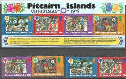 Scènes De Noël à L´île Pitcairn,Océan Pacifique, Vues Par Des Enfants. Un BF + La Série Neuve **.  Côte 8.00 € - Christmas
