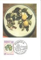 CM Monaco - Céramique Monégasque - Branche De Citronnier - Europa - 1976 - Maximumkarten (MC)