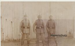 Fotokarte Altengrabow, Soldatengruppe - Sonstige