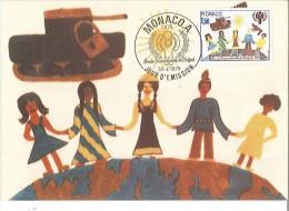 CM Monaco - Année Internationale De L'enfant - 1979 - Maximumkarten (MC)