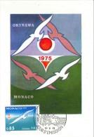 CM Monaco - Exposition Internationale D'Okinawa - 1975 - Maximumkarten (MC)
