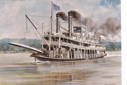Artist Drawn Paddle Steamer Senator Cordill Shipping Postcard (S11849) - Paquebots
