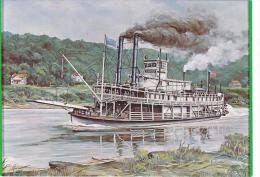 Artist Drawn Paddle Steamer Lorena Shipping Postcard (S11850) - Paquebots