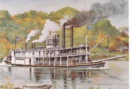 Artist Drawn Paddle Steamer Sonoma Shipping Postcard (S11851) - Paquebots