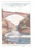 RHODESIA Bridge WITH TRAIN ON IT Over Zambesi River Below Victoria Falls Zimbabwe USED 1924 IN ENGLAND - Zimbabwe