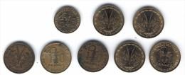 BANQUE CENTRALE DES ETATS DE L'AFRIQUE DE L'OUEST 10 FRANCS (X7) & 5 FRANCS (X1) - Monnaies