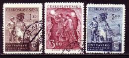CSSR 1951 - 688-90 O Michel - Gebraucht