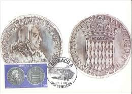 CM Monaco - Honoré II - Ecu D'argent - 1980 - Maximumkarten (MC)