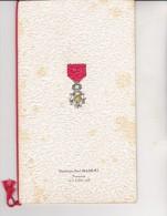 MENU RESTAURANT DU PARC -LYON-REMISE LEGION D'HONNEUR A D .P. MASSIMI -DEPUTE DU RHONE 1928-36- - Menú