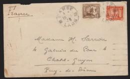 INDOCHINE  LAOS  LETTRE  DE  PAKSE  1938  POUR  LA FRANCE  VIA SAIGON  Réf  7799 - Briefe U. Dokumente