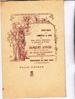 BANQUET ANNUEL -SYNDICAT DU COMMERCE EN GROS VINS ET SPIRITUEUX -SALLE WAGRAM 24 MAI 1939 - Menú