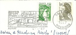 France Nice Cut Pictorial Meter Auray 1987 Bridge - Bruggen