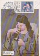 JOURNEE DU TIMBRE PICASSO, FEMME LISANT - France