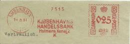 Danmark Nice Cut Meter, Freistempel  Kjobenhavns Handelsbank Holmens, Kobenhavn 14-3-1931 - Marcofilie - EMA (Printer)