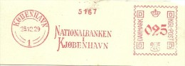 Danmark Nice Cut Meter, Freistempel  Nationalbanken Kjobenhavn, Kobenhavn 23-12-1929 - Marcofilie - EMA (Printer)