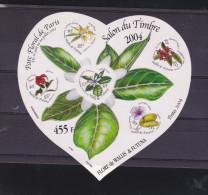 D] Sheet Feuillet Autocollant Self-adhesive Wallis & Futuna Fleur Flower Coeur Heart - Flora
