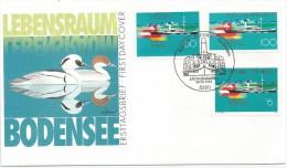 Allemagne RFA 1993 1509 Autriche 1993 1927 Suisse 1993 1437 FDC Bateau � vapeur - Drapeaux - Canards