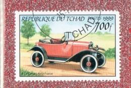 ".. REP.  DU  TCHAD  --  5 CV.. CITROEN  1919.....FRANCE    --  """"  700 F.  **  -- POSTE  1999  --   BEG - Chad (1960-...)"