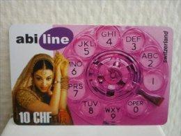 Prepaidcard Zwtzerland 10 CHF used
