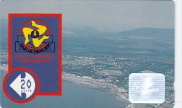 Isle Of Man, MAN 043, 20 Units, Aerial View Of Iom., 2 Scans. - Isla De Man