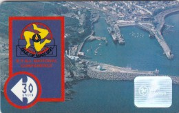 Isle Of Man, MAN 044, 30 Units, Aerial View Of Iom., 2 Scans. - Isla De Man