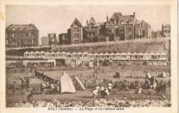 10489. Postal AILT (Somme). La Plage Et Les Cabines Salon - Ault