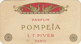 Carte Parfumée Piver Pompeia Martin Hautecour Place D'armes Namur - Perfume Cards
