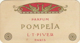 Carte Parfumée Piver Pompeia Martin Hautecour Place D´armes Namur - Perfume Cards