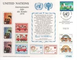 NATIONS UNIES ANNEE INTERNATIONALE DE L'ENFANT 1979 PREMIER JOUR FDC LOT DE 2 CARTES  VOIR SCAN - UNICEF