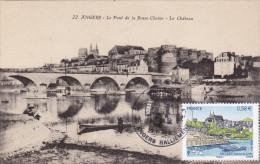 Carte Maximum FRANCE N° Yvert 4543 (ANGERS - Château) Obl Sp Ill  Philatélie Château Sur Belle Carte Ancienne - Cartoline Maximum