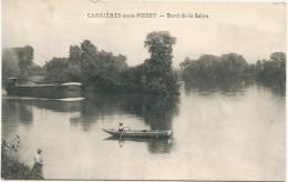 78 - CARRIERES SOUS POISSY - CPA - Bord De La Seine - Barque, Péniche - Carrieres Sous Poissy